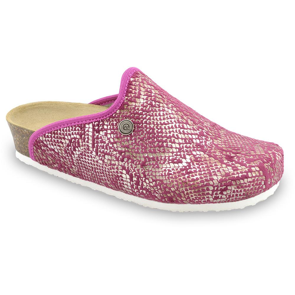 CAKI domowe zimowe buty damskie - plusz (36-42) - różowy, 36