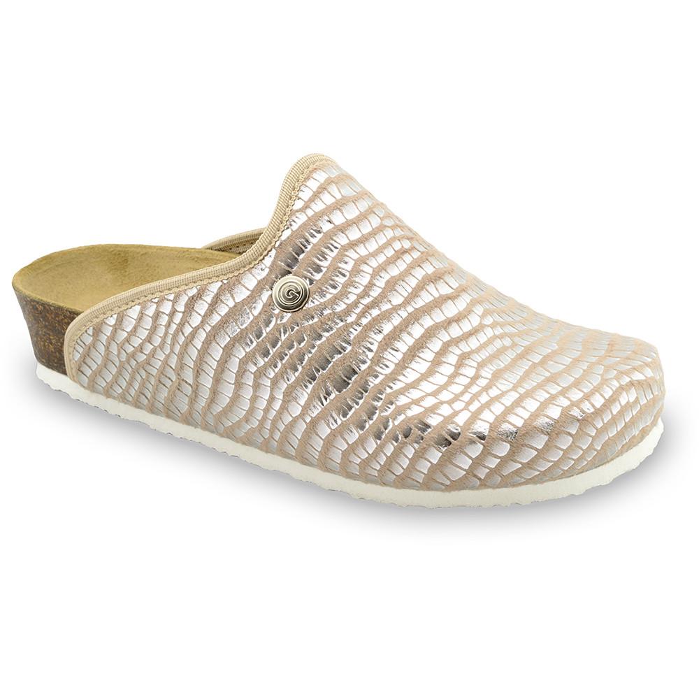CAKI domowe zimowe buty damskie - plusz (36-42) - brązowy wąż, 42