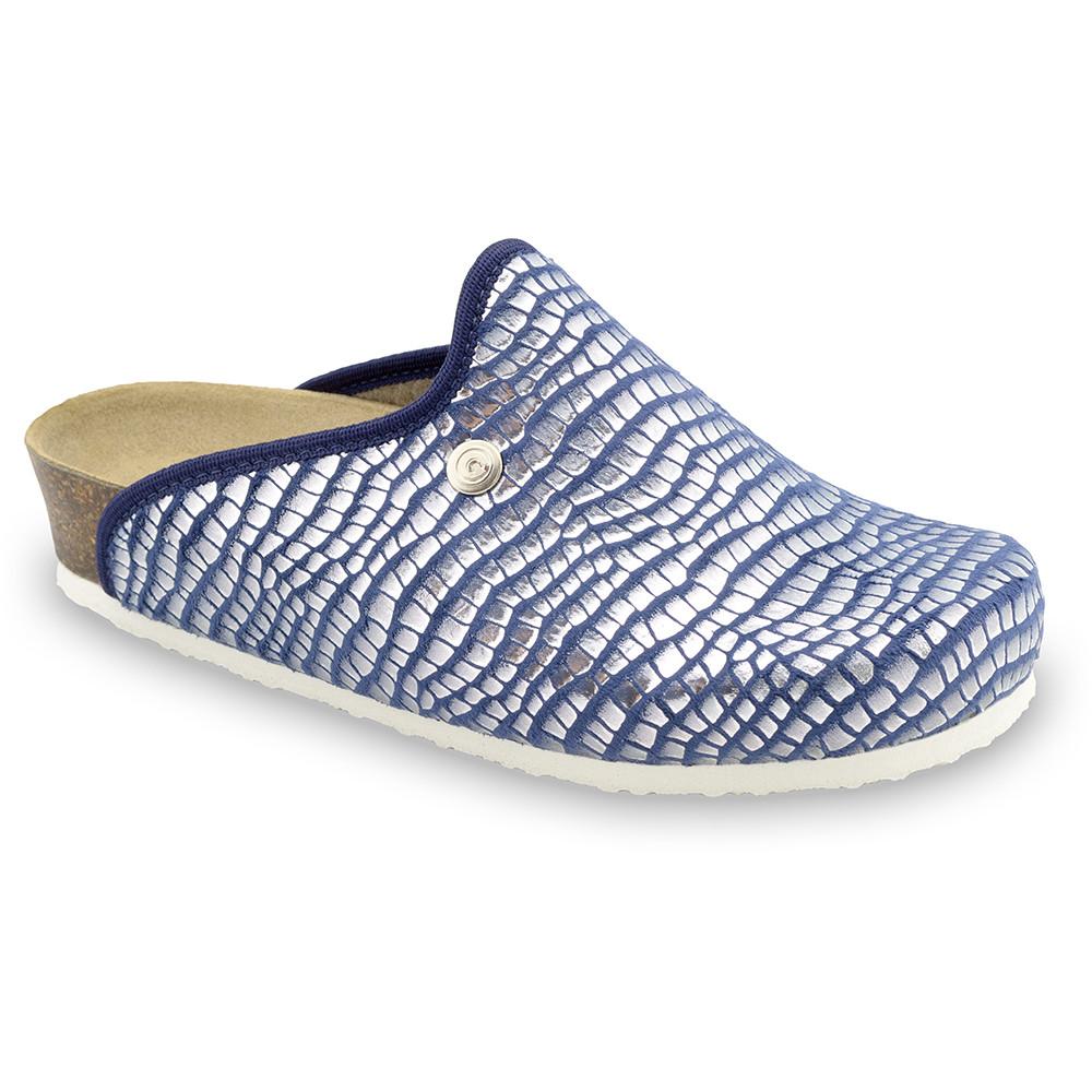 CAKI domowe zimowe buty damskie - plusz (36-42) - niebieski wąż, 41