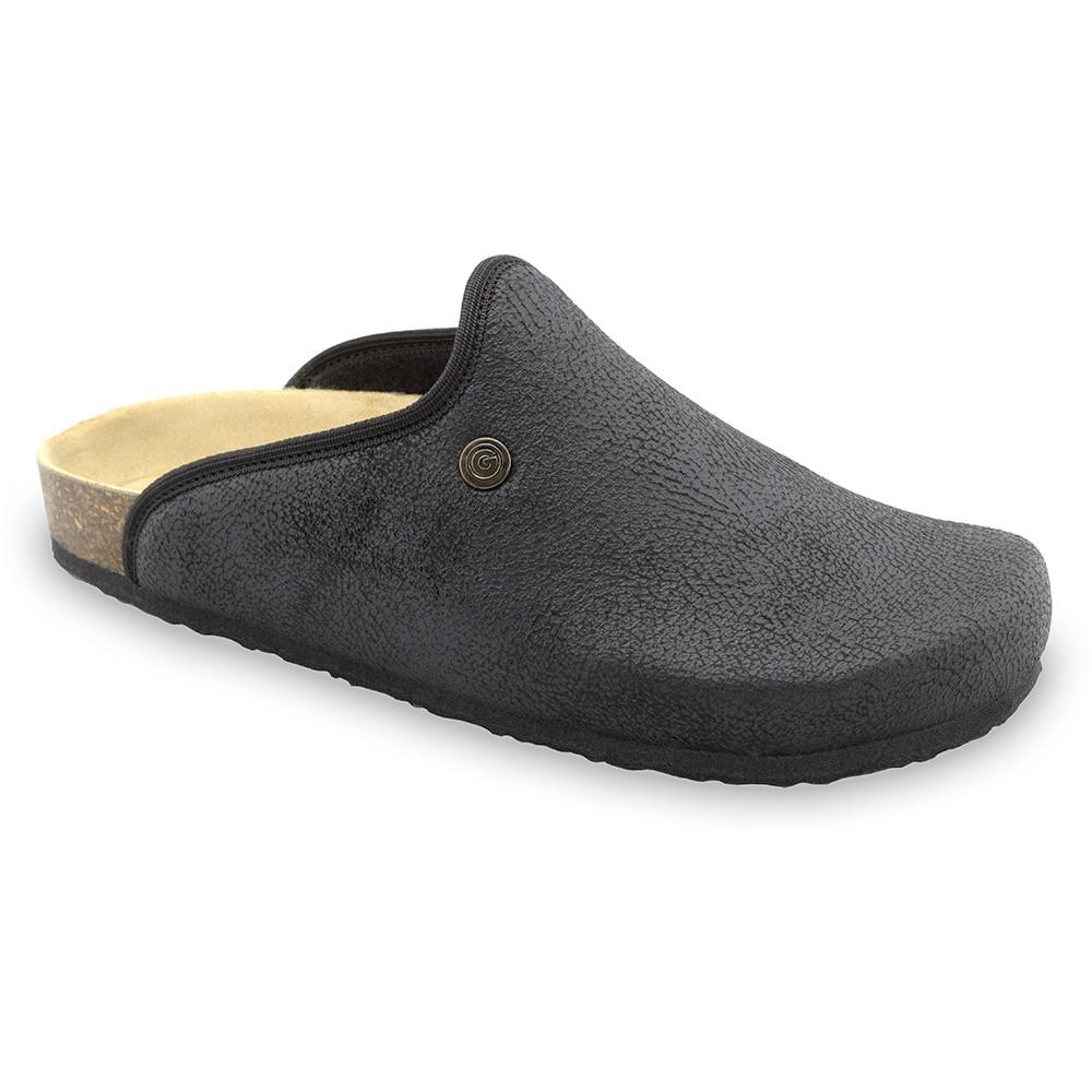 CAKI zimowe buty domowe dla mężczyzn - plusz (40-49) - czarny, 40
