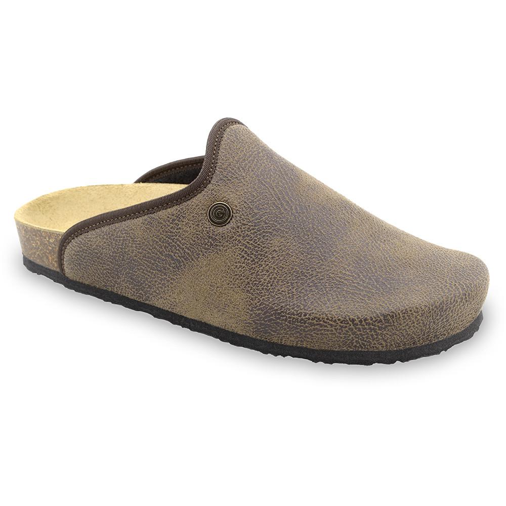 CAKI zimowe buty domowe dla mężczyzn - plusz (40-49) - brązowy, 40
