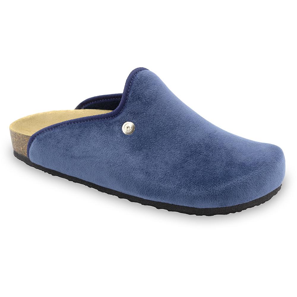 CAKI zimowe buty domowe dla mężczyzn - plusz (40-49) - niebieski, 40