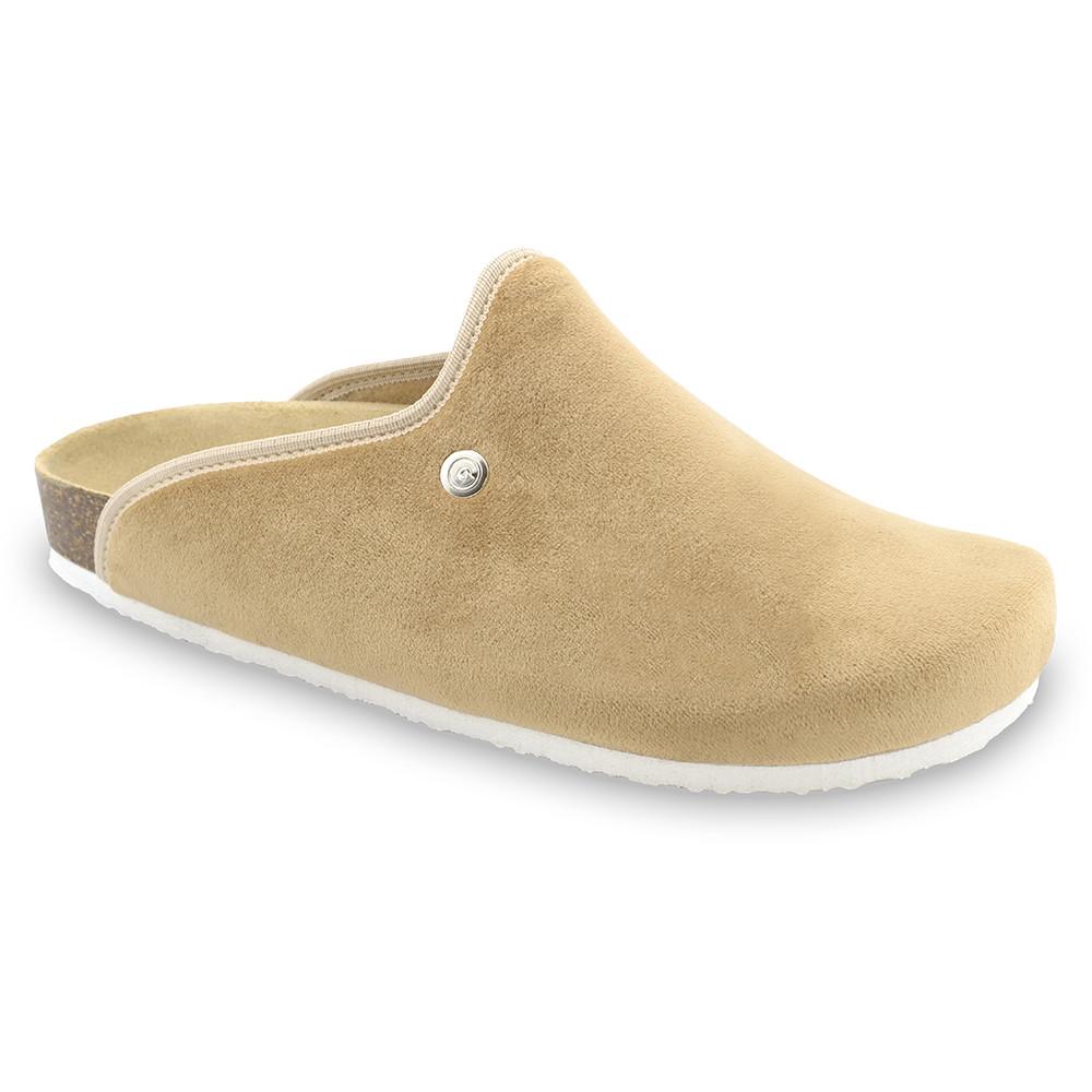 CAKI zimowe buty domowe dla mężczyzn - plusz (40-49) - kremowy, 48