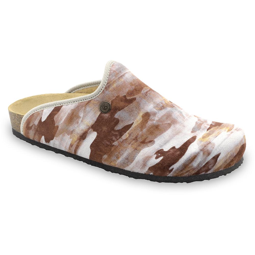 CAKI zimowe buty domowe dla mężczyzn - plusz (40-49) - wzorzysty, 45