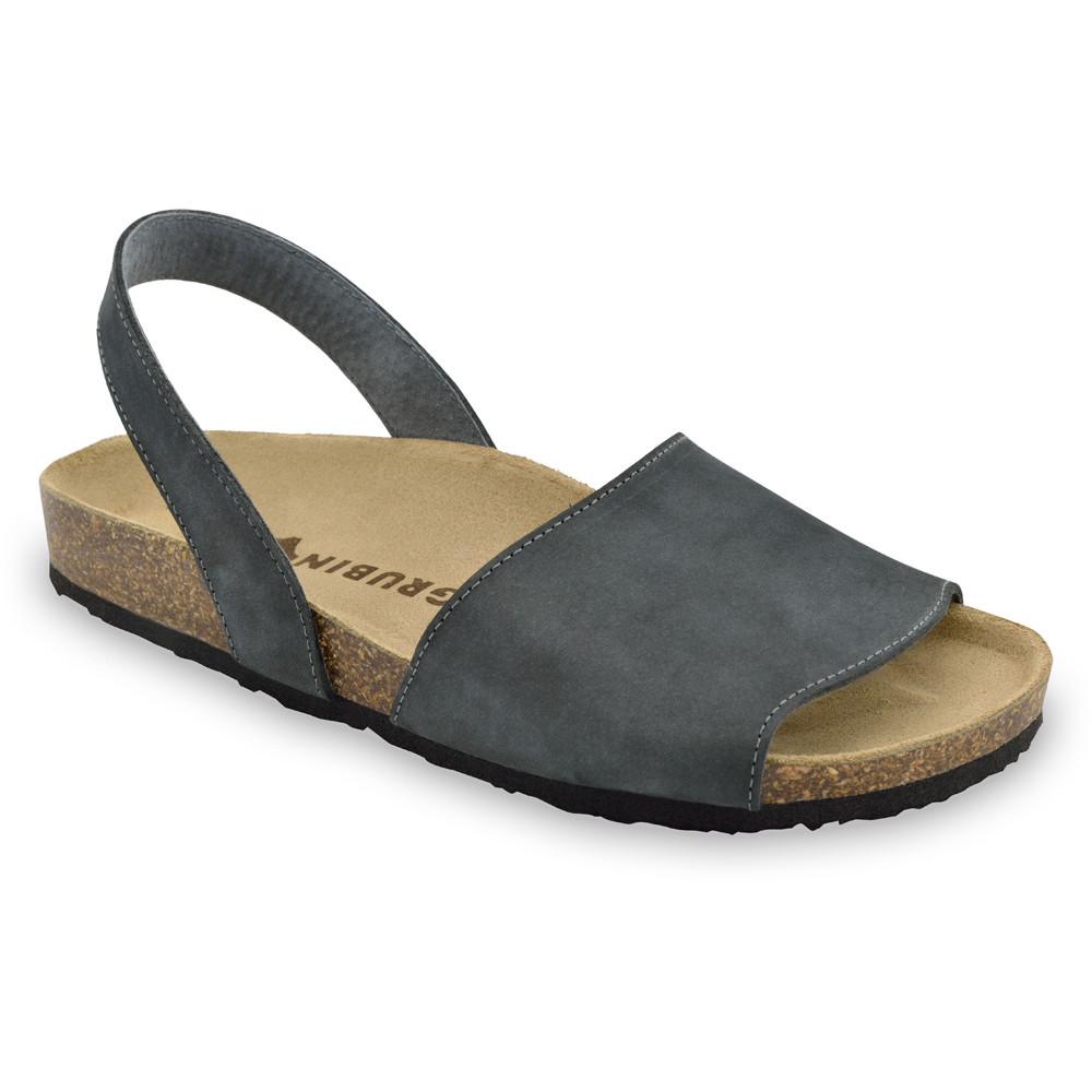 BOSS sandały dla mężczyzn - skóra nubuk (40-49) - ciemnoszary, 45