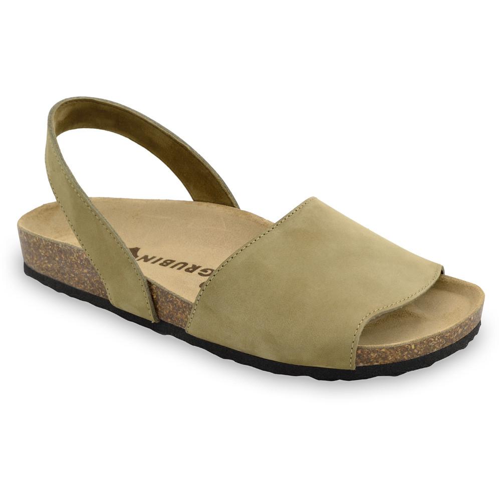 BOSS sandały dla mężczyzn - skóra nubuk (40-49) - kremowy, 45