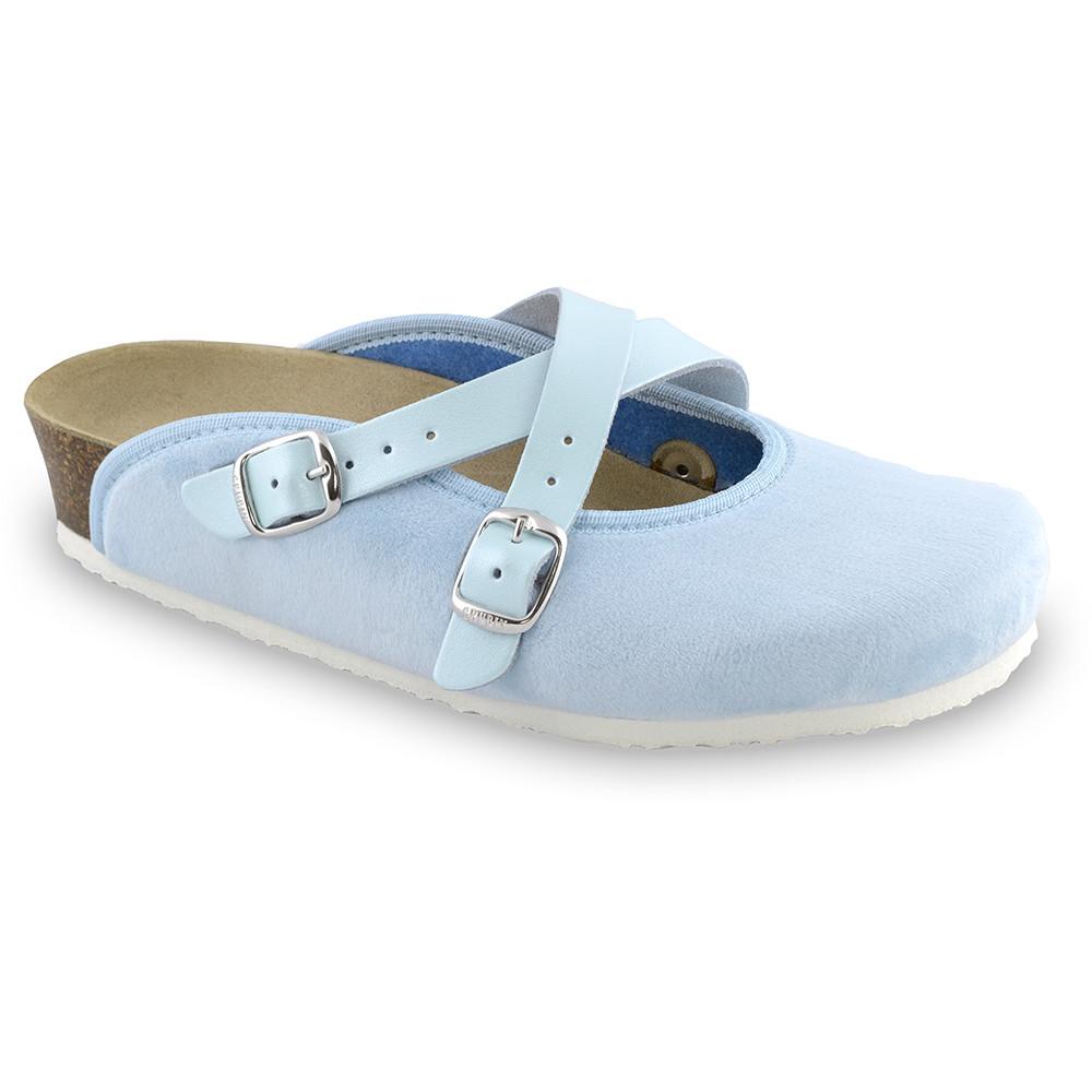 AFRODITA domowe zimowe buty damskie - plusz (36-42) - jasnoniebieski, 37