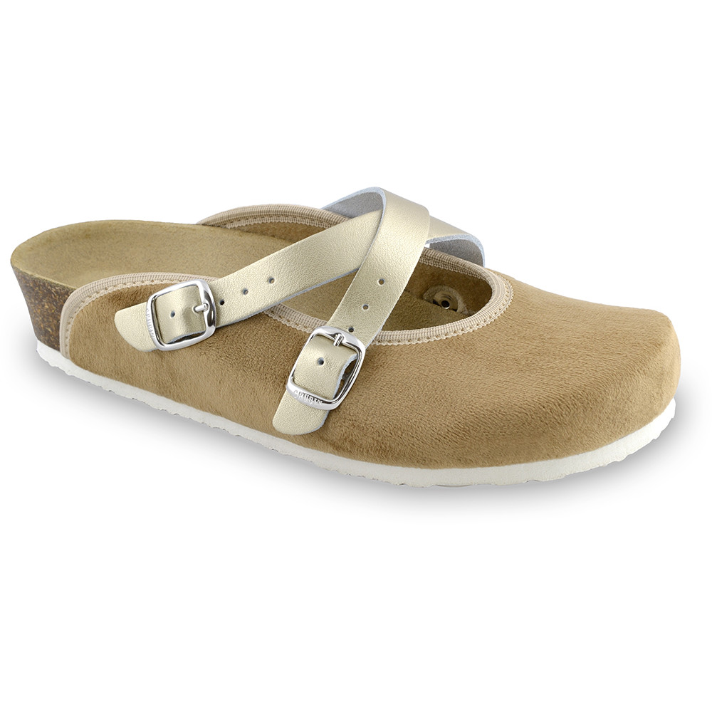AFRODITA domowe zimowe buty damskie - plusz (36-42) - brązowy, 42