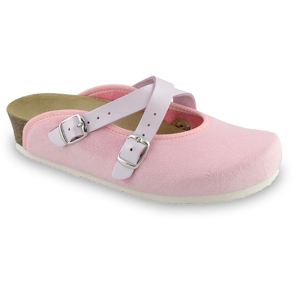 AFRODITA domowe zimowe buty damskie - plusz (36-42) - jasnoróżowy, 40