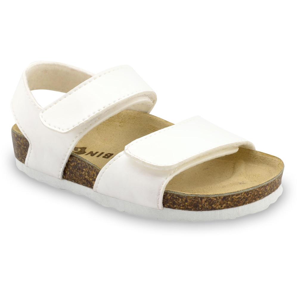 DIONIS sandały dla dzieci - sztuczna skóra (23-29) - biały, 28