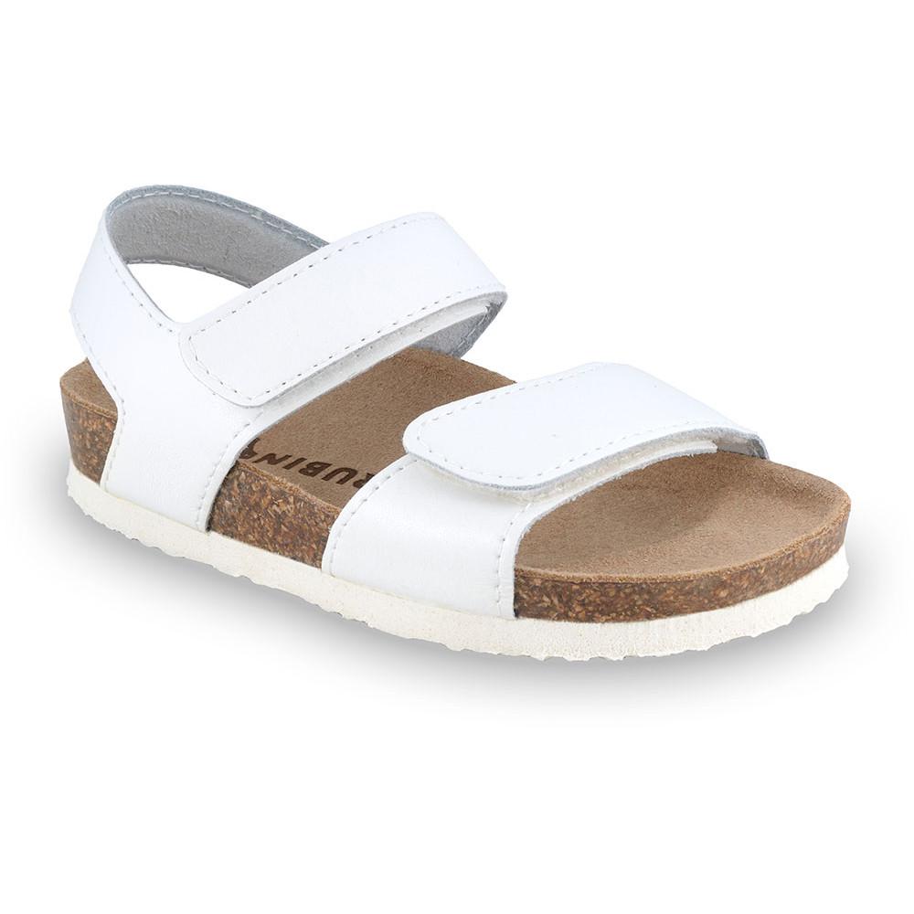 DIONIS sandały dla dzieci - skóra (23-29) - biały, 26