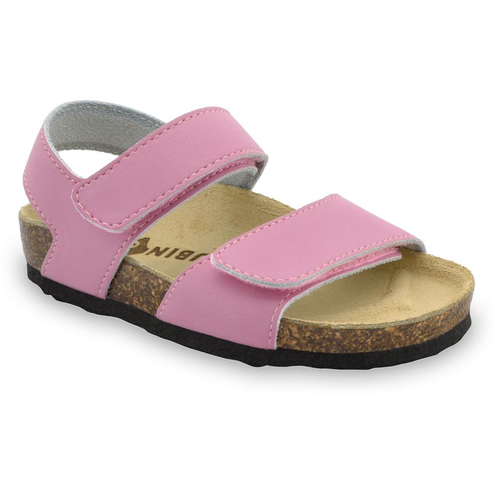 DIONIS sandały dla dzieci - skóra (23-29) - różowy, 25