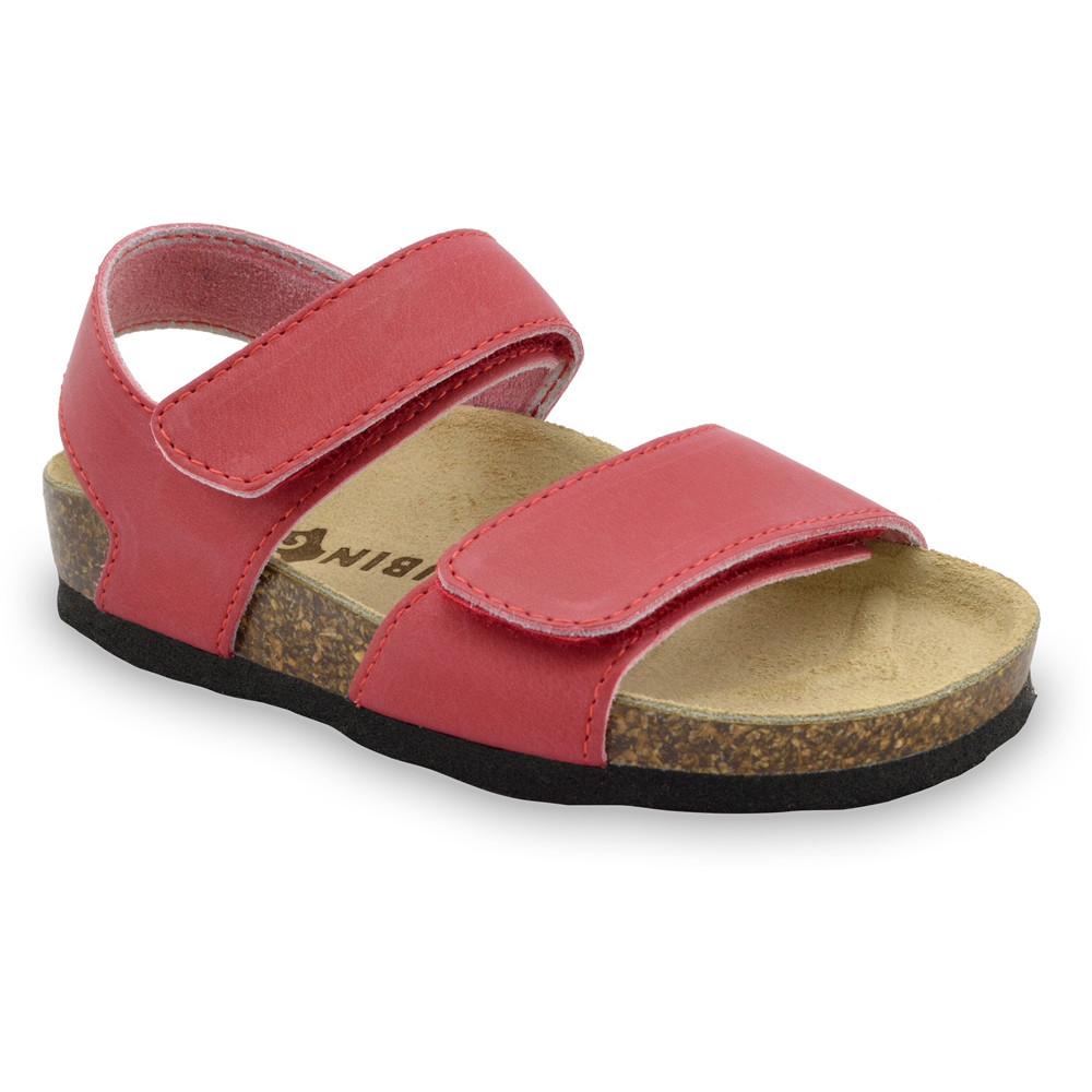 DIONIS sandały dla dzieci - skóra (23-29) - czerwony, 28