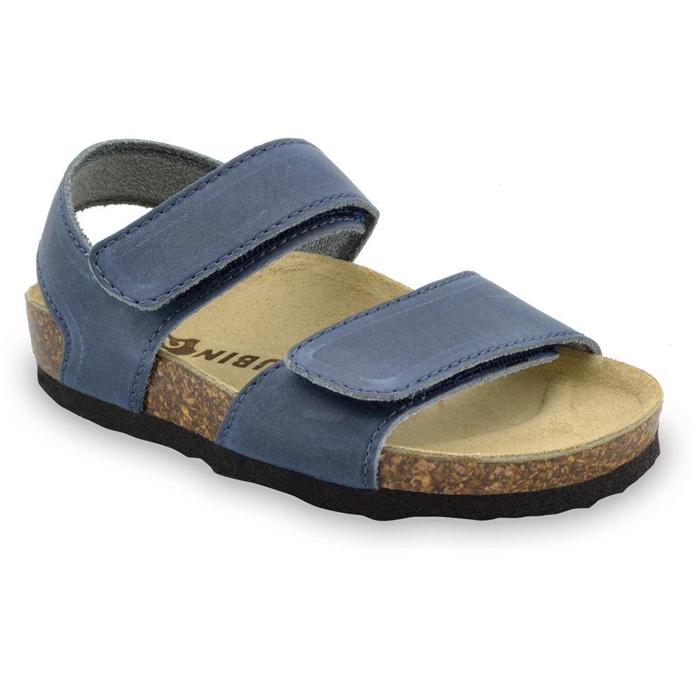 DIONIS sandały dla dzieci - skóra (23-29) - niebieski, 25