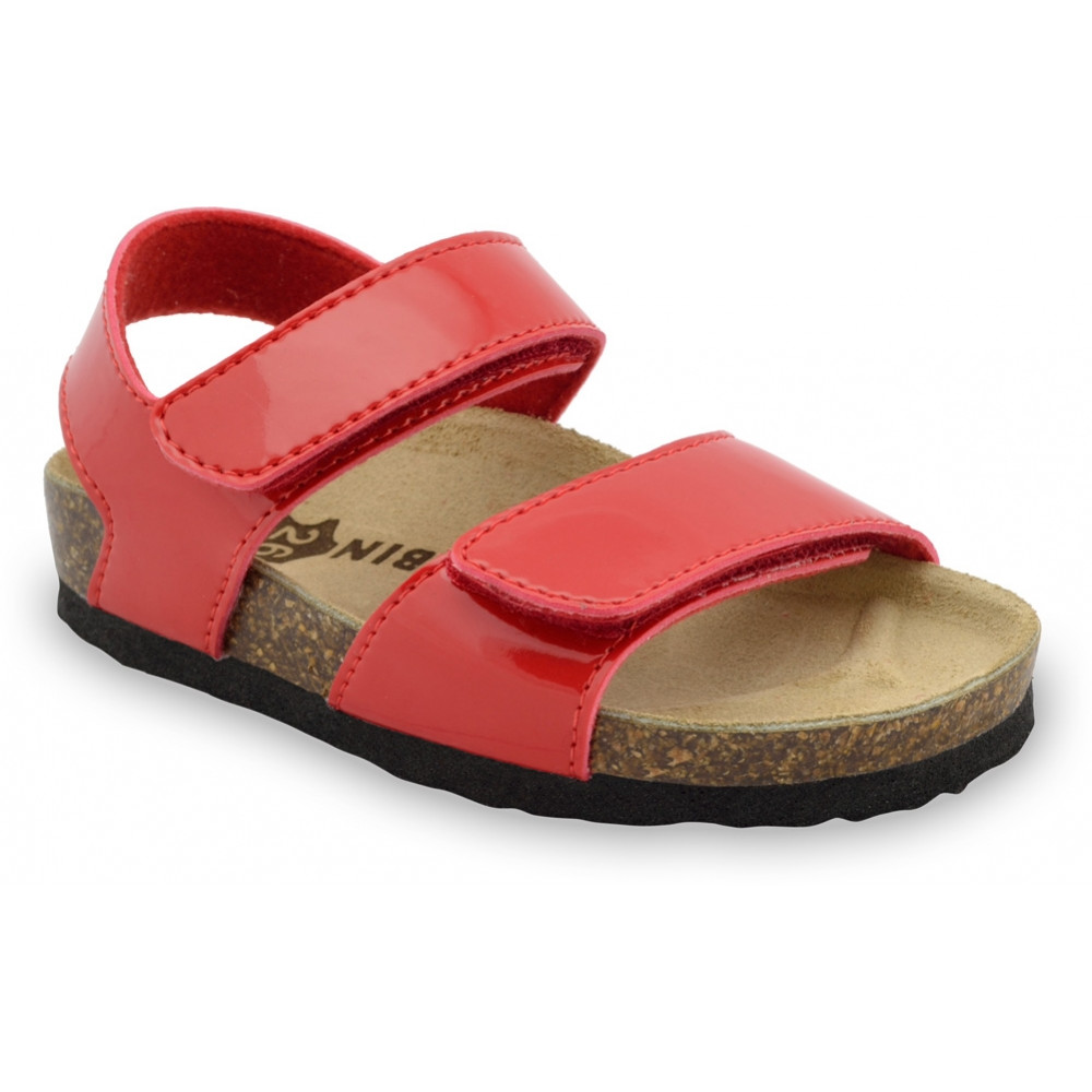 DIONIS sandały dla dzieci - sztuczna skóra (30-35) - czerwony, 30