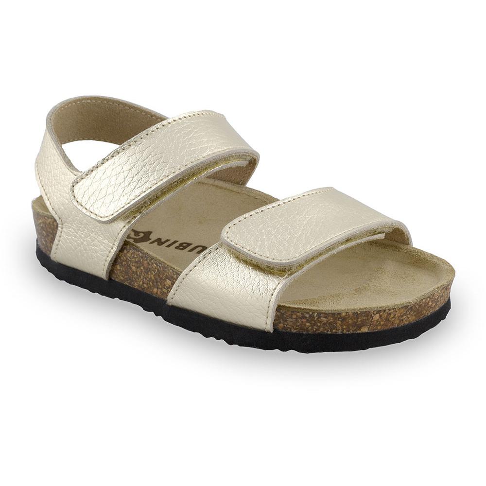 DIONIS sandały dla dzieci - skóra (30-35) - złoty, 32