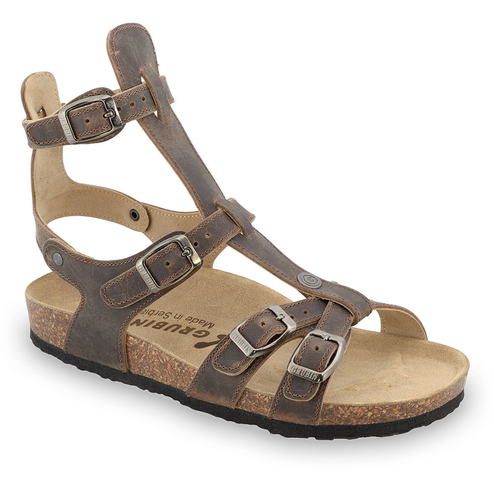 CATHERINE sandały dla kobiet - skóra (36-42) - brązowy, 39