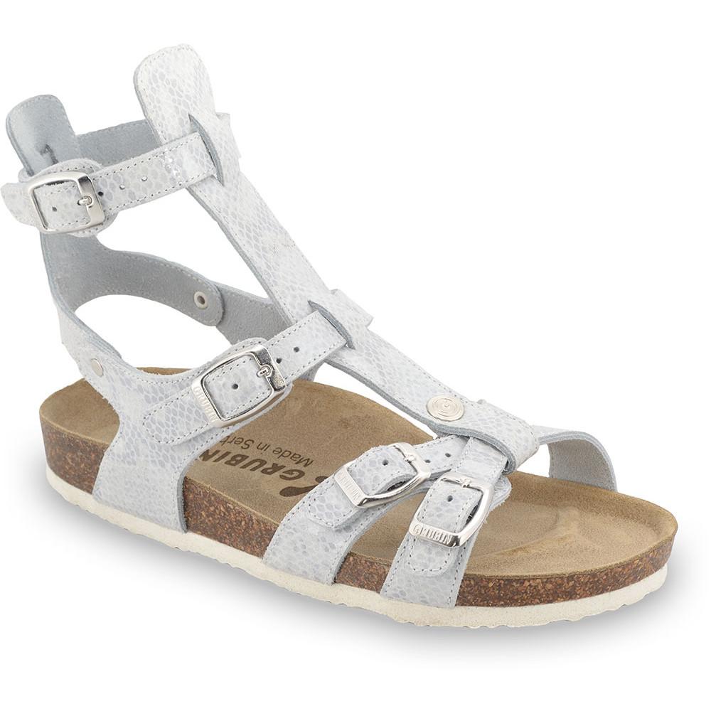 CATHERINE sandały dla kobiet - skóra (36-42) - srebrny, 42