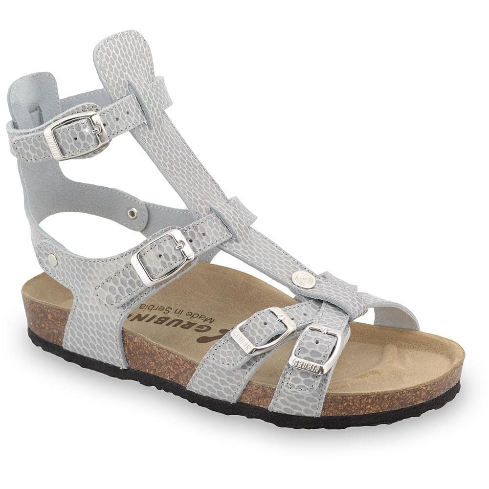 CATHERINE sandały dla kobiet - skóra (36-42) - szary wąż, 42