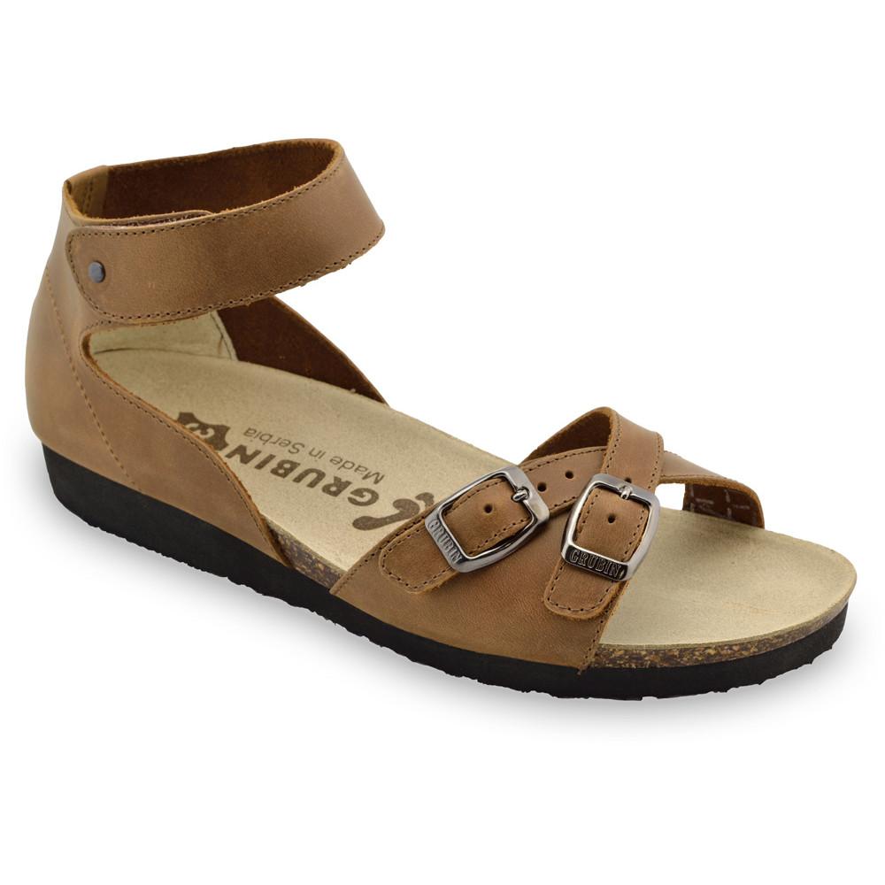 NICOLE sandały dla kobiet - skóra (36-42) - brązowy, 38