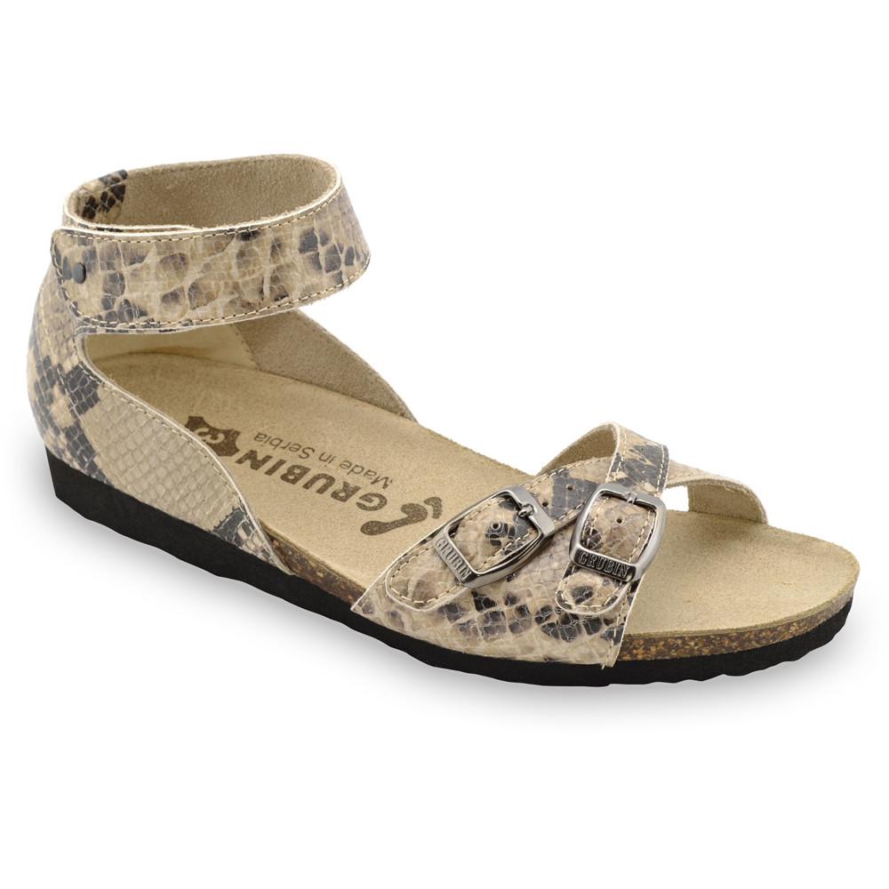 NICOLE sandały dla kobiet - skóra (36-42) - brązowy z wzorem, 37