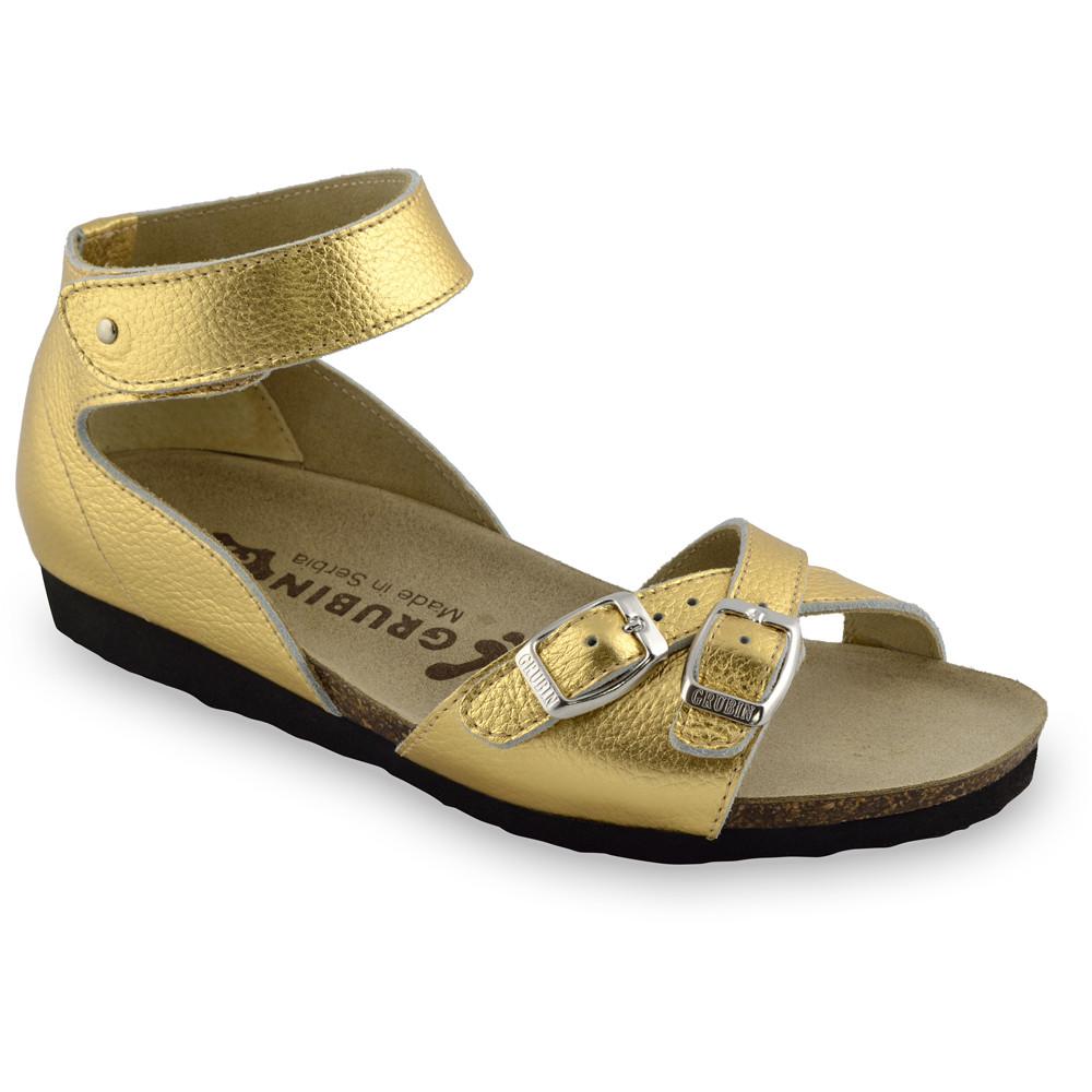 NICOLE sandały dla kobiet - skóra (36-42) - złoty, 37