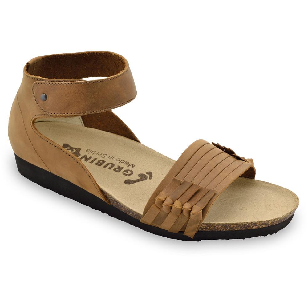 WHITNEY sandały dla kobiet - skóra (36-42) - brązowy, 40