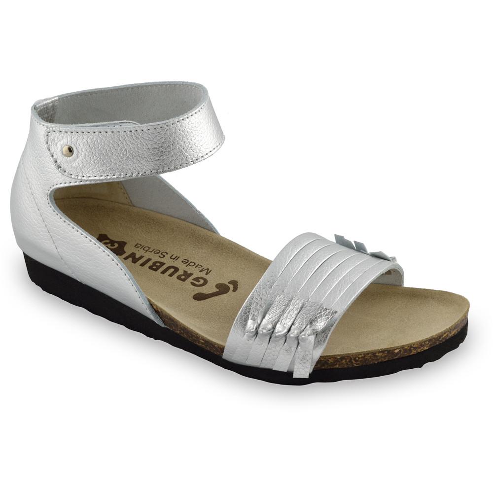WHITNEY sandały dla kobiet - skóra (36-42) - srebrny, 39