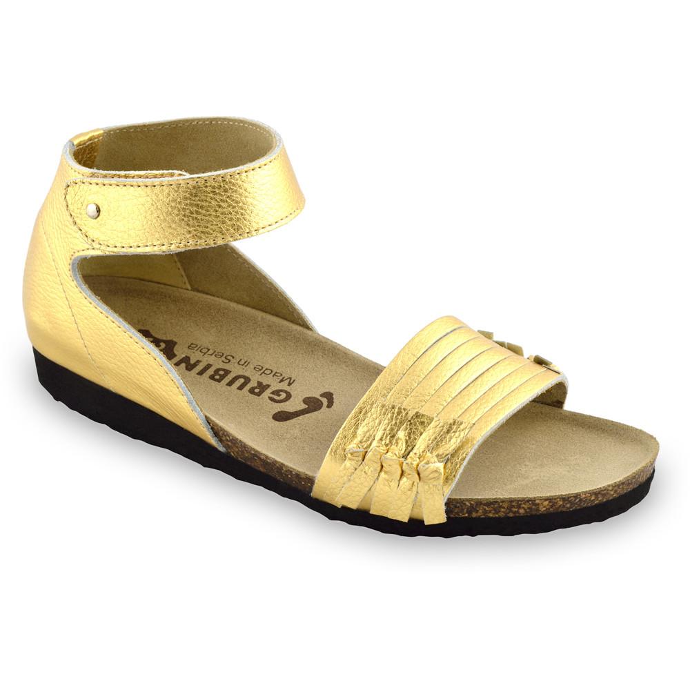 WHITNEY sandały dla kobiet - skóra (36-42) - złoty, 41