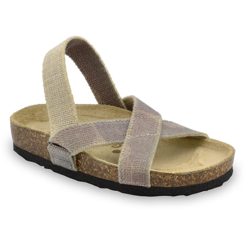 LUI sandały dla dzieci - tkanina (23-29) - militarny, 29