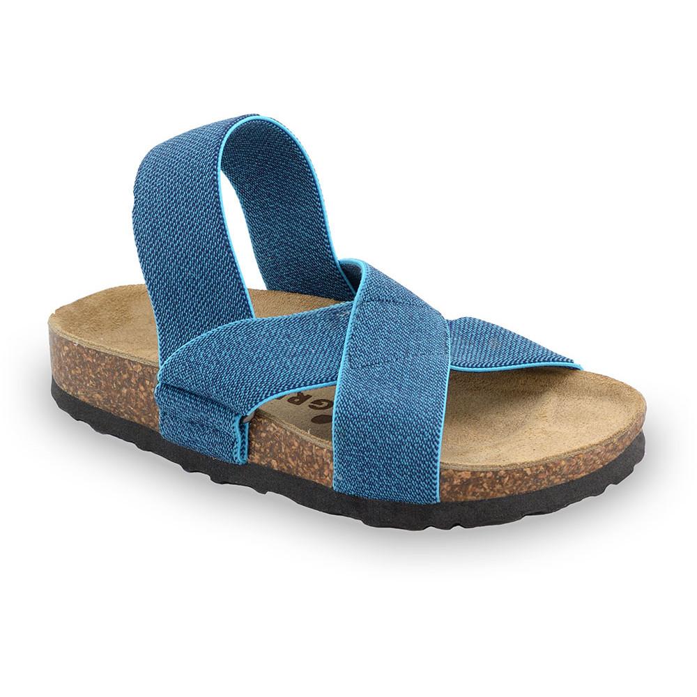 LUI sandały dla dzieci - tkanina (30-35) - niebieski, 30