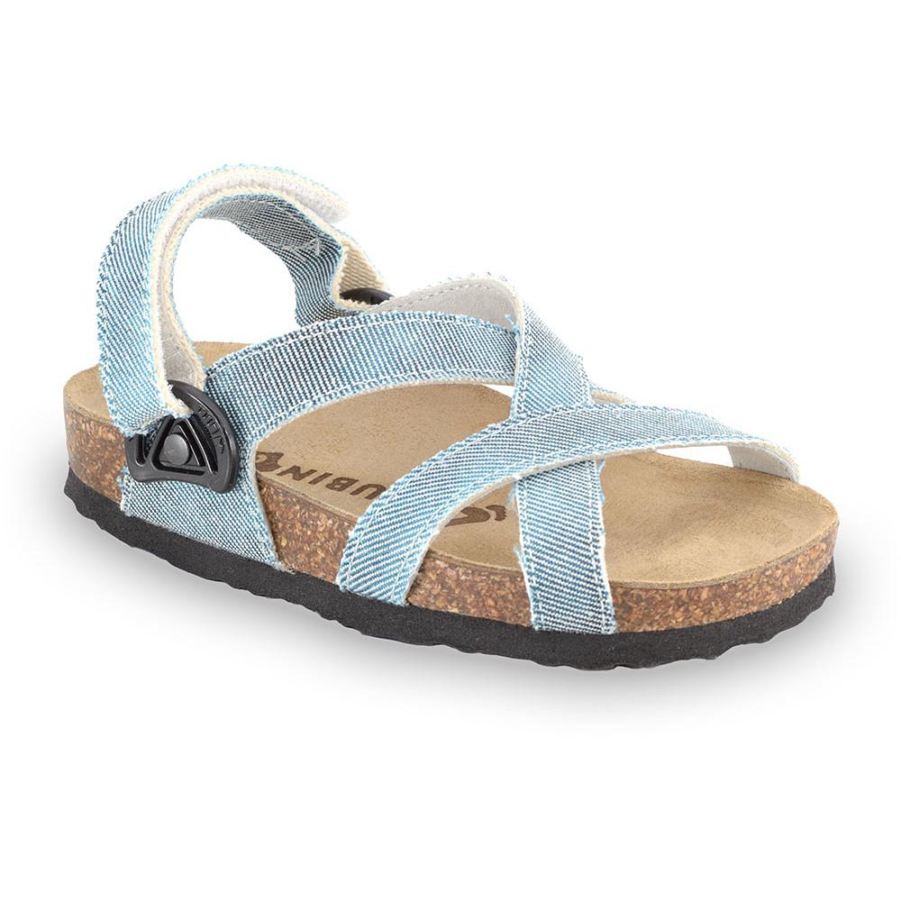 PITAGORA sandały dla dzieci - tkanina (30-35) - niebieski, 33