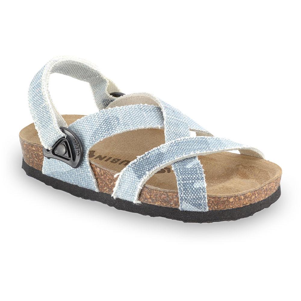 PITAGORA sandały dla dzieci - tkanina (30-35) - niebiesko-szary, 30