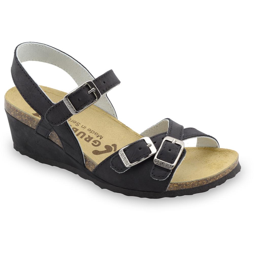 ILIRIJA sandały dla kobiet - skóra (36-42) - czarny, 39