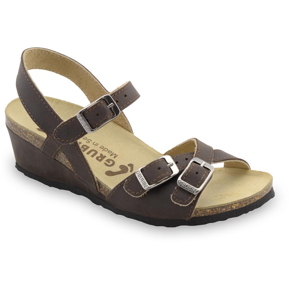 ILIRIJA sandały dla kobiet - skóra (36-42) - brązowy, 38