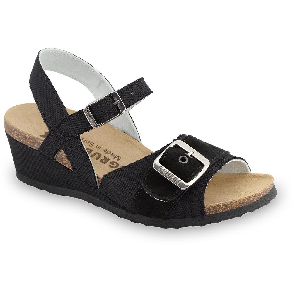 TIMEA sandały dla kobiet - tkanina (36-42) - czarny, 41