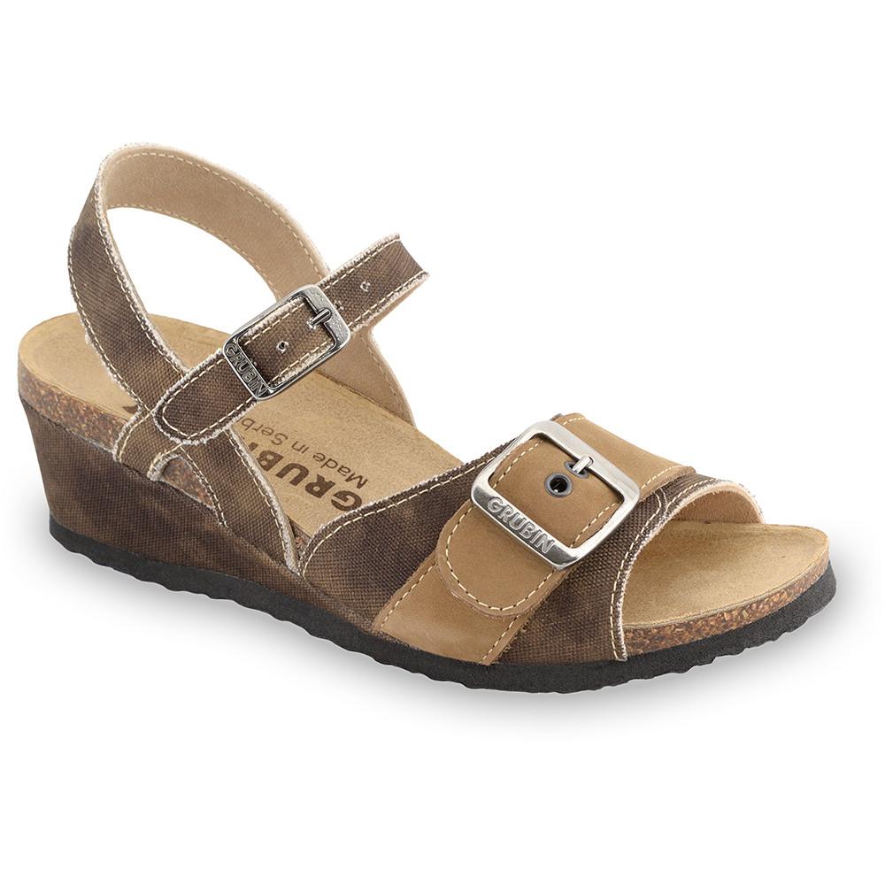 TIMEA sandały dla kobiet - tkanina (36-42) - brązowy, 36