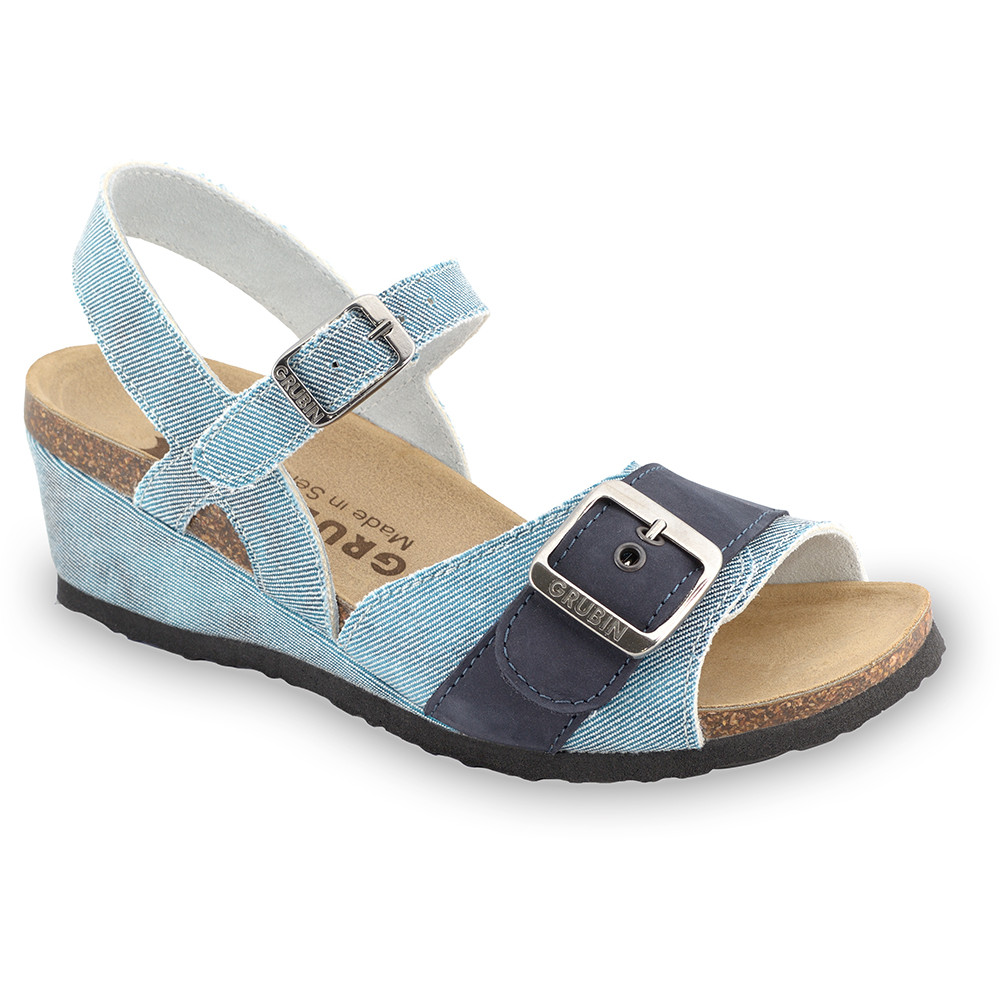 TIMEA sandały dla kobiet - tkanina (36-42) - niebieski, 37