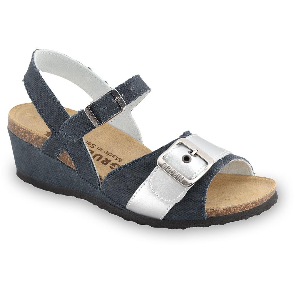 TIMEA sandały dla kobiet - tkanina (36-42) - czarny z wzorem, 36