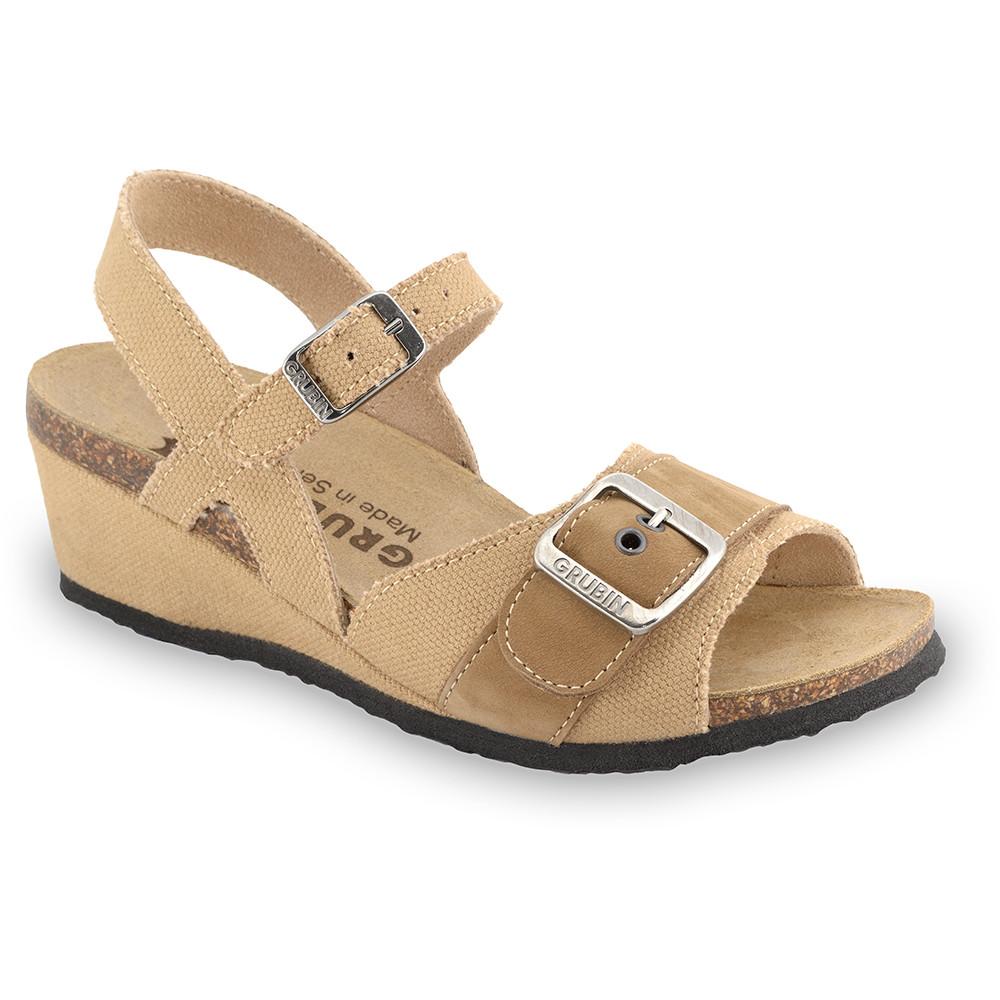 TIMEA sandały dla kobiet - tkanina (36-42) - jasnobrązowy, 38