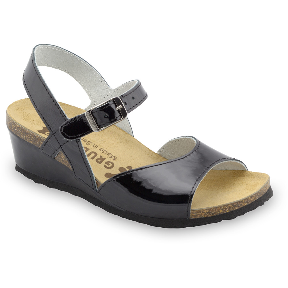 HALDEJA sandały dla kobiet - skóra (36-42) - czarny, 42