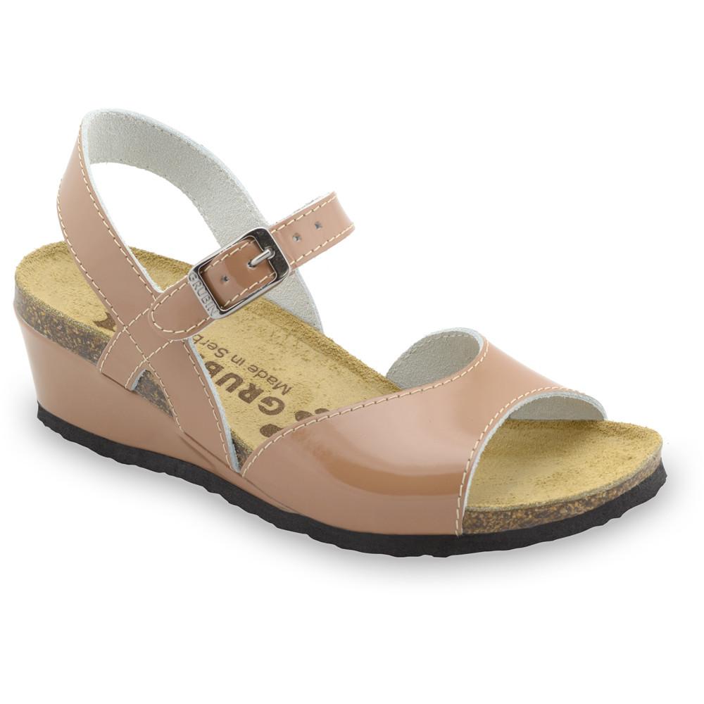 HALDEJA sandały dla kobiet - skóra (36-42) - brązowy, 41
