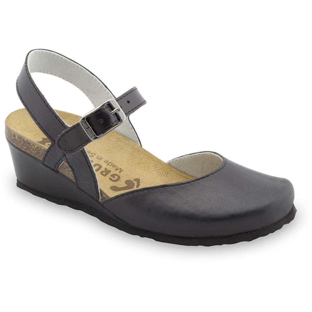 FELIKS sandały dla kobiet - skóra (36-42) - czarny, 39