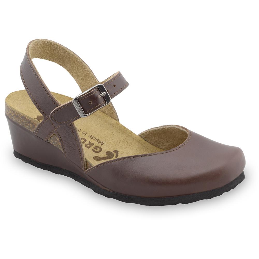 FELIKS sandały dla kobiet - skóra (36-42) - brązowy, 41