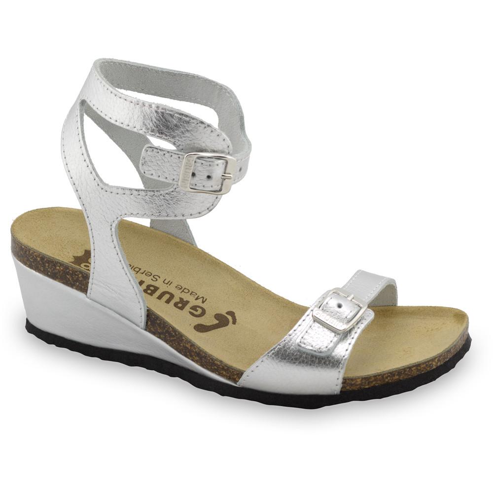 VENUS sandały dla kobiet - skóra (36-42) - srebrny, 36