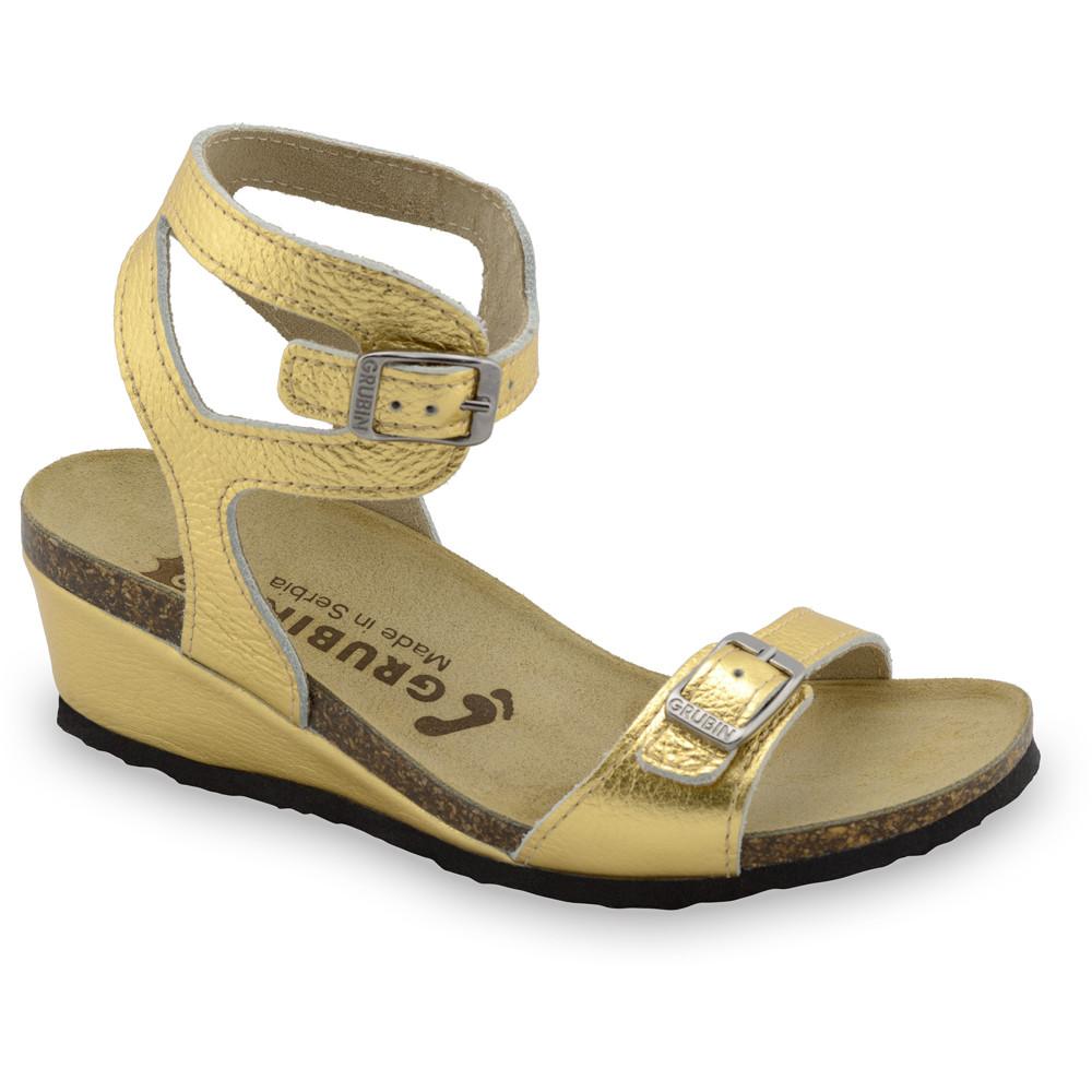 VENUS sandały dla kobiet - skóra (36-42) - złoty, 39