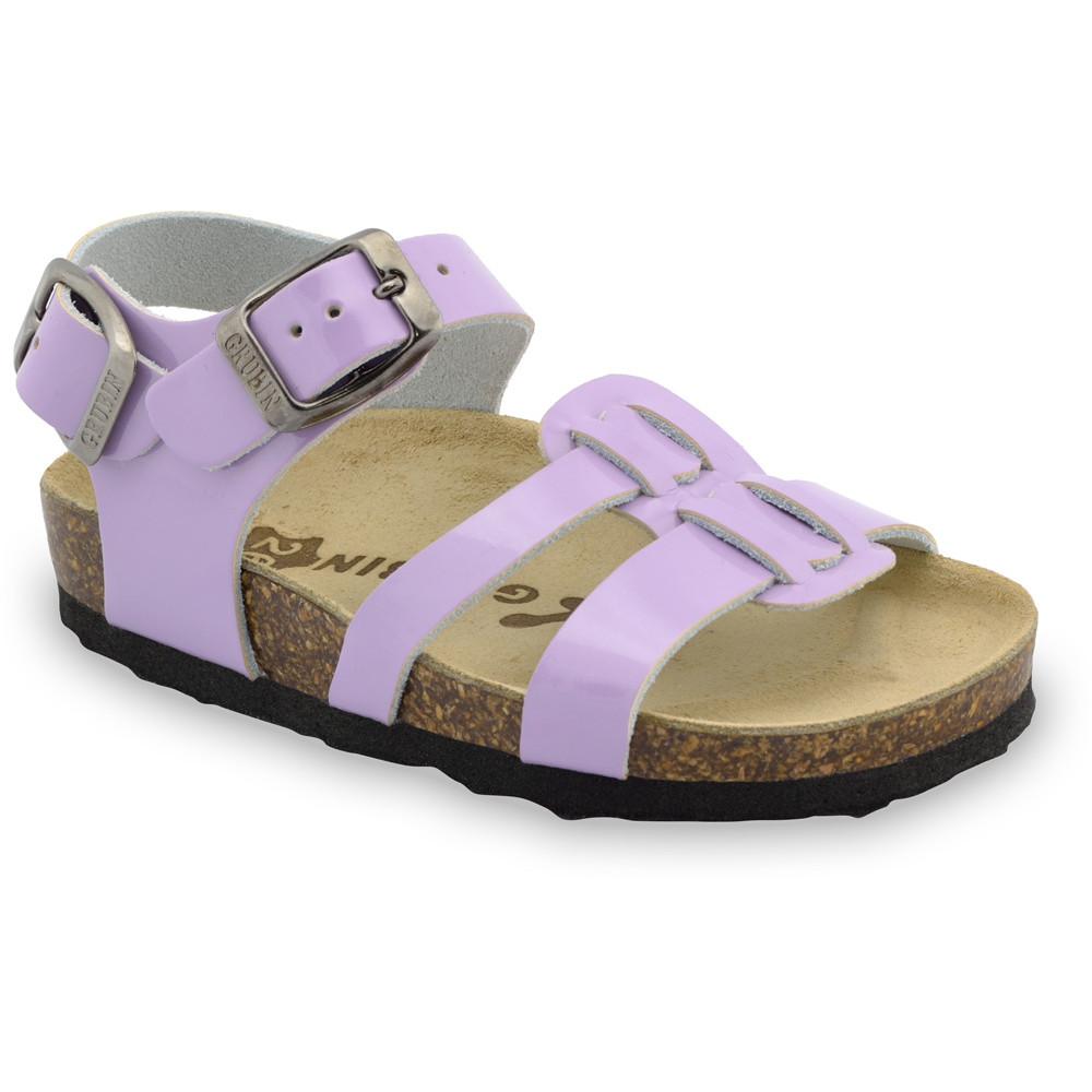 HRONOS sandały dla dzieci - skóra (23-29) - fioletowy, 29