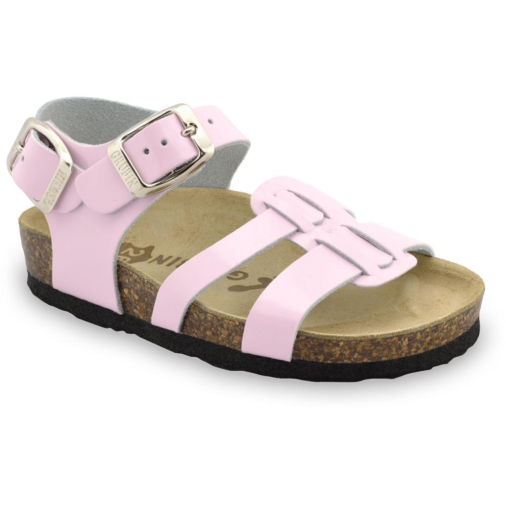 HRONOS sandały dla dzieci - skóra (23-29) - różowy, 26
