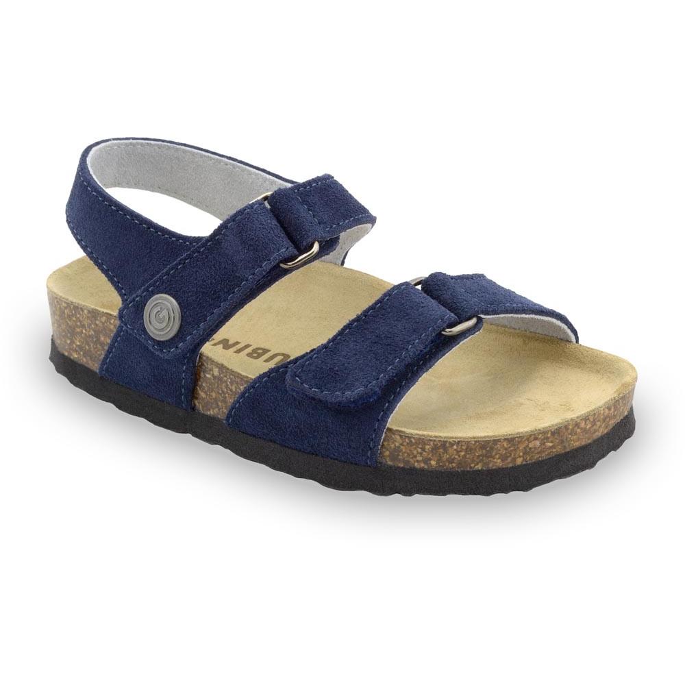 RAFAELO sandały dla dzieci - zamsz (23-29) - niebieski mat, 24