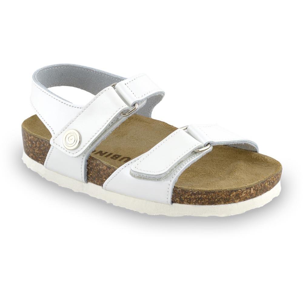 RAFAELO sandały dla dzieci - skóra (23-29) - biały, 24